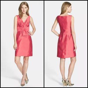 Kate Spade Silk Blend Coral Pink Bow Sheath Dress